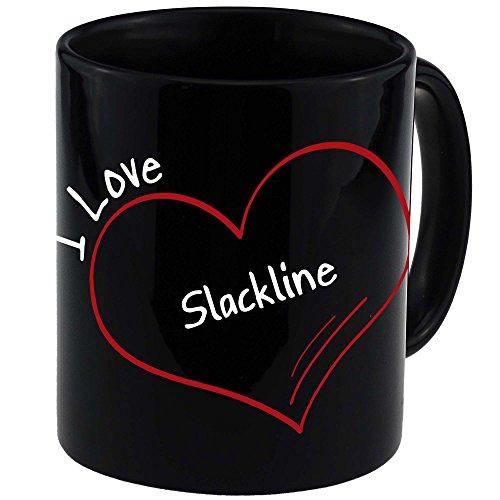 Taza I Love modern slackline negro