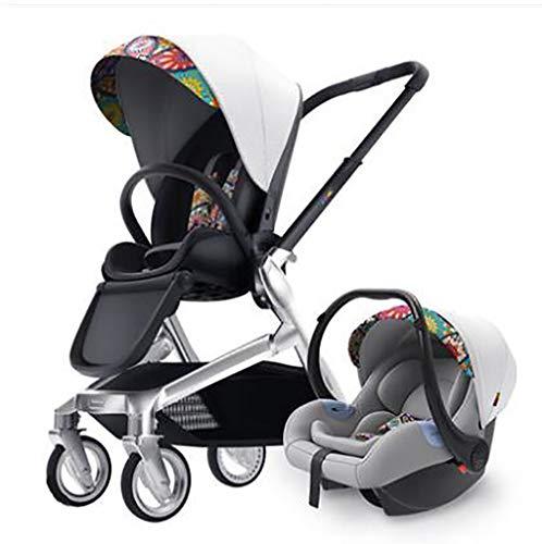 YLXBH - Carrito de bebé Plegable Portable Lavable recién Nacido de Dos vías Tumbado con Dos Manos