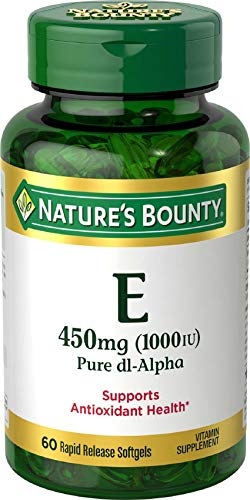 Nature's Bounty Vitamin E Pills and Supplement, Supports Antioxidant Health, 1000iu, 60 Softgels
