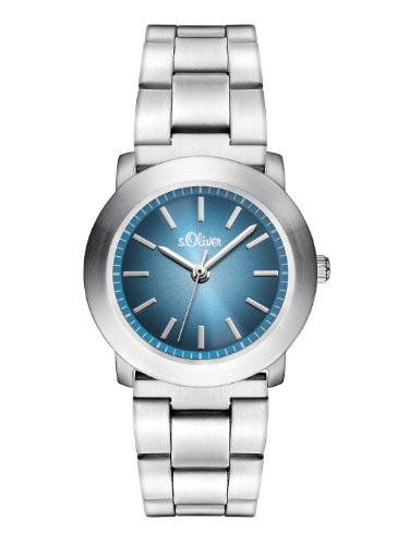 s.Oliver Damen-Armbanduhr XS Analog Quarz Edelstahl SO-2798-MQ