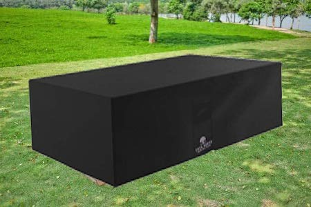 Casa Buena Garden Furniture Cover 6 Seat Rectangular Table Cover. Now with *Triple Guard!* Protects Patio Furniture All Year Round from All ADVERSE Weather Conditions. Funda Muebles Jardin