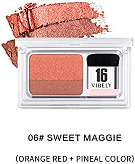 Eye Magazine Everyday Lazy Eyeshadow with Double Colors Glitter Gradient Eye Shadow Palette Long Lasting (06)