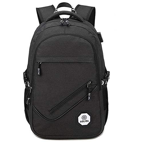 Back Pack Waterproof Rucksack Laptop Backpacks Backpack Bags Backpacks for Mens Boys Rucksack Canvas Backpack Black Rucksack Travel Rucksack Black
