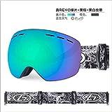 Mouygsd Gafas Snowboard Doble Capa Antiniebla Gafas de esquí de Doble Capa antivaho Grandes esféricos Adultos Hombres y Mujeres montañismo a Prueba de Viento y antivaho Gafas de esquí