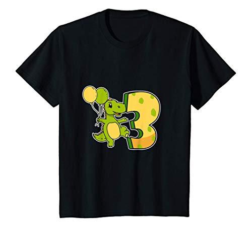 Niños Divertido 3º Cumpleaños Dinosaurio Disfraz 3 Años T-Rex Camiseta