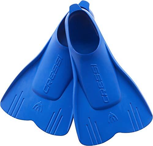 Cressi Mini Light Fins Aletas Cortas y Ligeras para natación y Buceo Infantil, Unisex-Youth, Azul, 23/24