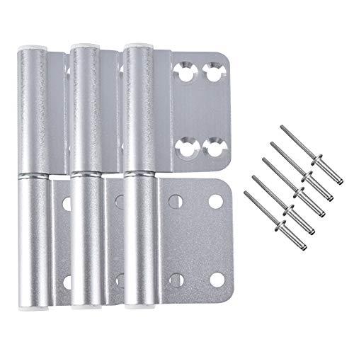 Daytwork Puerta Bandera Bisagras - 3PCS Aluminio Aleación Plegable Desmontable Tope Bisagra...