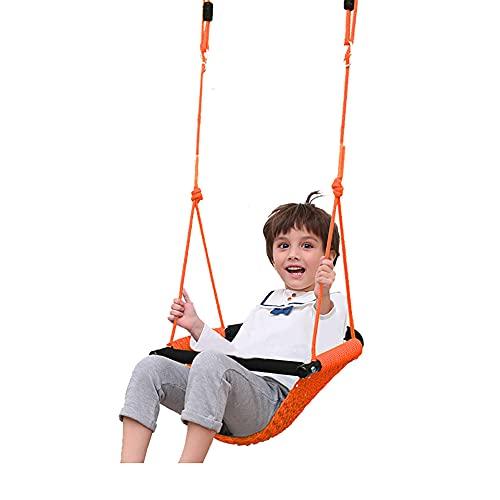 Columpio Ajustable, Columpio de Jardín para Niños, con Cinturón de Seguridad, Columpio Libre con Cuerda de Altura Regulable