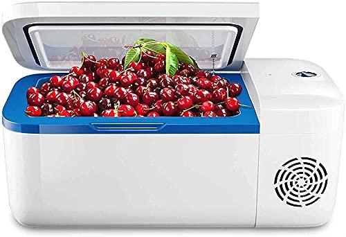 Auoeer Frigorífico De Nevera De 12L De 12L, Refrigeración del Compresor, Refrigeración hasta -18 , Control De Temperatura Preciso, Congelación + Refrigeración, Hogar (Color : For Pure Cars)