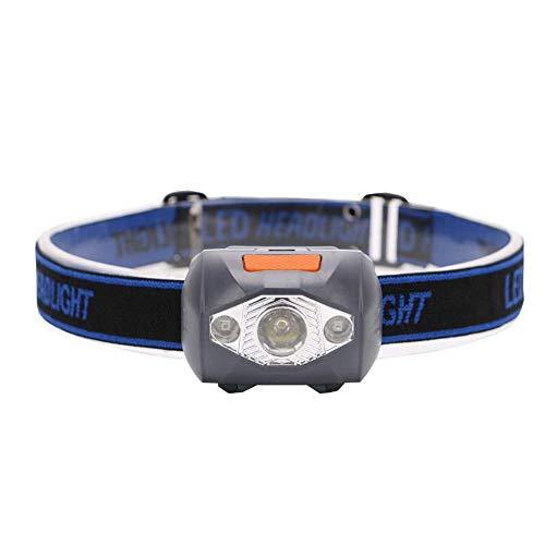 GPWDSN Linterna de Cabeza led, Linterna súper Brillante TorchHead Lights Mini Linterna de luz de la Linterna 4 Modos de Linterna Mini Linterna de LED Batería AAA Linterna de Camping al Aire Libre L