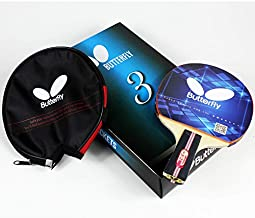 Butterfly B302CS Chinese Penhold Table Tennis Racket | China Series | Racket and Case Set Offering Good Speed and More Spin | Recommended for Beginning Level Players