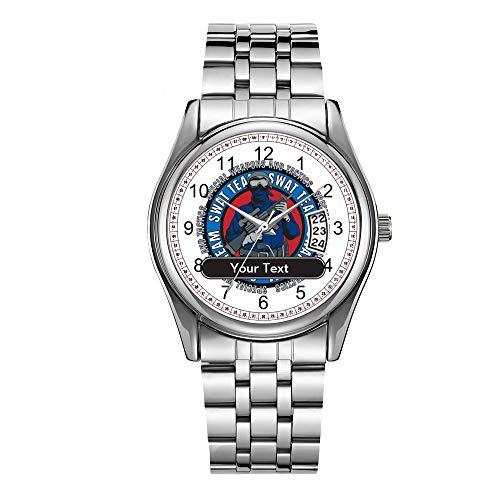 Reloj de lujo de los hombres 30m impermeable fecha reloj masculino deportes relojes hombres cuarzo casual Navidad reloj personalizado SWAT equipo relojes