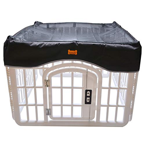 LOOBANI Pet Playpen Mesh Fabric Top Cover, Provide Shaded Areas for Pets and Protect from UV/Rain,...