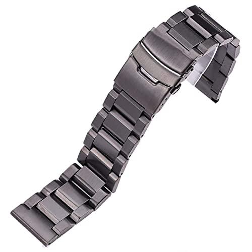 REDCVBN Correas de Reloj de Acero Inoxidable Pulsera 18 mm 20 mm 22 mm 24 mm Hombres Correa de Reloj de Metal Cepillado Reemplazar Accesorios Pulsera (Color de la Banda: Plata, Ancho de Banda: 18 mm)