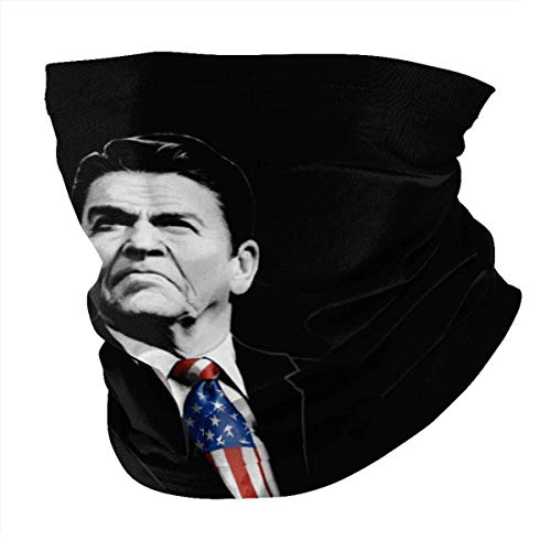 I Smell Hippies Ronald Reagan American Flag Neck Gaiter Face Mask Bandana Summer Breathable Lightweight Fishing Motorcycling Running Balaclavas
