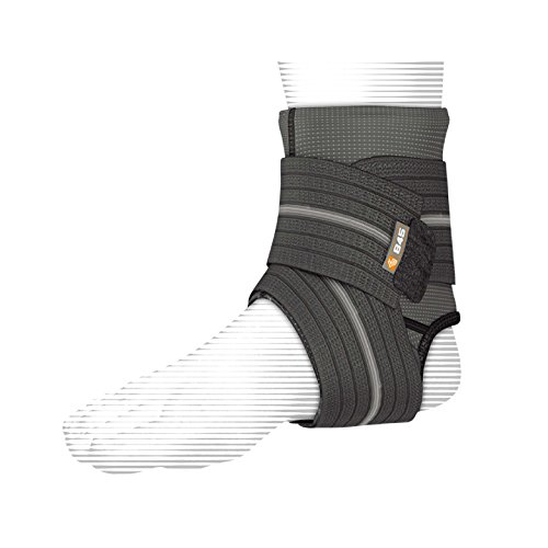 Shock Doctor Ankle Sleeve with Compression Wrap Support (Black, Medium)