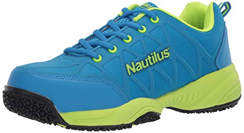 Nautilus 2154 Women's Comp Toe Light Weight Slip Resistant Safety Toe Athletic Shoe, Blue, 8 M US