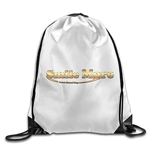 Sac de Sport à Cordon, Sac à Dos de Sport, Sac à Dos de Voyage, Roman Atwood Smile More Drawstring Backpacks/Tasches