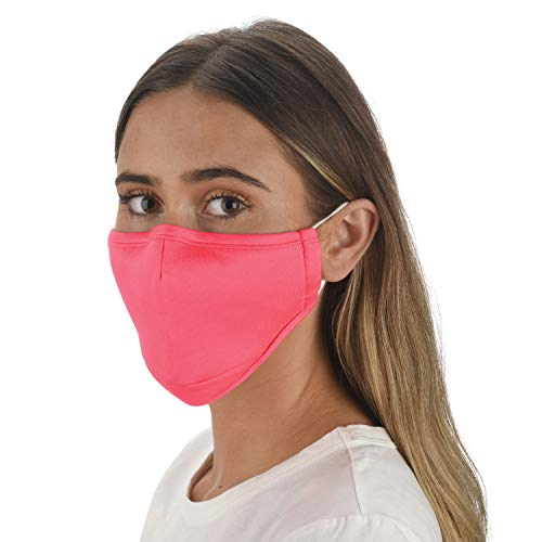 Snoozies 3-Layer Washable & Breathable Face Mask w/4 Fllters & Nose Guard- Pink