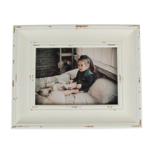 DII Distressed Wooden Picture Frame Collection Rustic Farmhouse Inspired, 5x7, Antique White