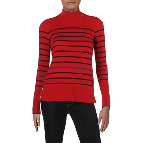 Stay chic in the Aishya cashmere striped sweater by Lauren Ralph Lauren 100% Cashmere Features cozy knit cashmere and stripes perfect for your long day at the office Long sleeves Pullover
