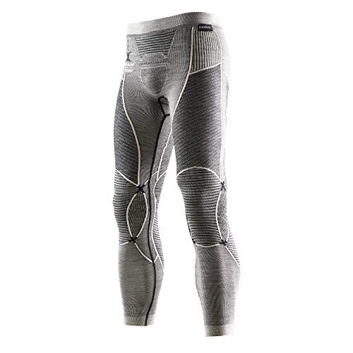 X-Bionic I100466 Pantalon Homme, Noir/Gris/Ivory, FR : L (Taille Fabricant : L/XL)