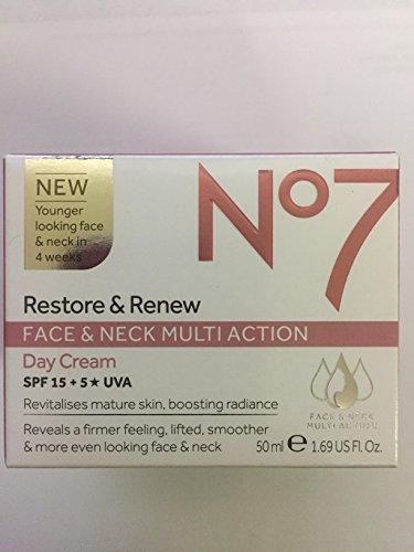 No 7 Restore & Renew Face & Neck MultiAction Day Cream SPF15+5*UVA
