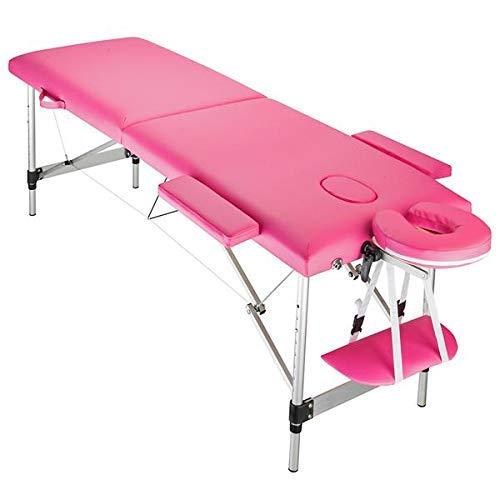 HYCy 2 Abschnitte tragbarer Massagetisch - Einfache Einrichtung Leicht verstellbares und klappbarer Bett fuuml;r Physiotherapie, Gesichtsbehandlung, Tattoo, Spa und Kosmetiker Behandlungstisch Bett