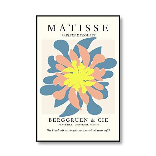 Henry Matisse cartel de exposición de arte abstracto cuadro de impresión de arte de pared decoración moderna del hogar pintura de lienzo sin marco A2 15x20cm