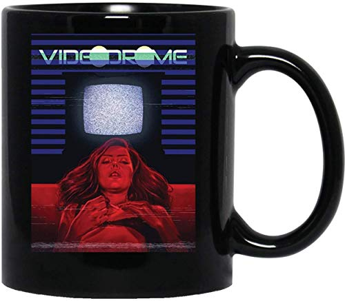 N/ Girl and TV Videodrome Cult Movie 80s Awesome Weird Psychedelic Men Women Unisex T-Shirt Sweatshirt Hoodie Mug Cup Coffee Mugs Cups Tea Funny Coffee Mug for Women and Men Tea Cups