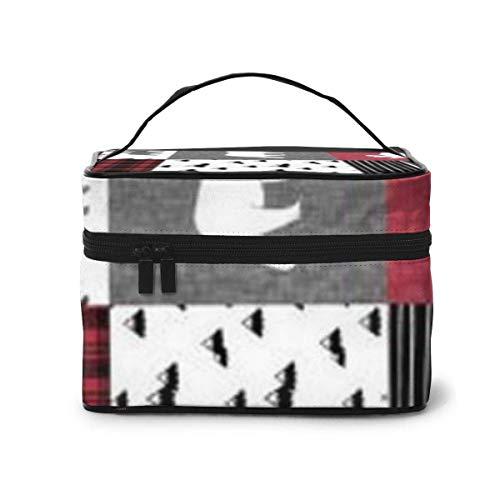 Tartan Travel Cosmetic Case Organizer Portable Artist Storage Bag, Multifunction Case Toiletry Bags for Women