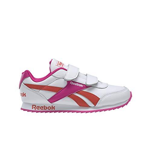 Reebok Royal CLJOG 2 2V, Zapatillas de Running para Niñas, Blanco/PROUDP/CAROTE, 29 EU