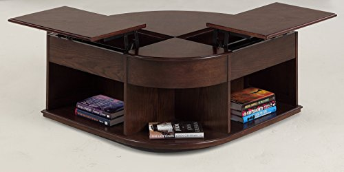 Progressive Furniture Sebring Castered Double Lift-Top Cocktail Table, Cherry Medium Ash
