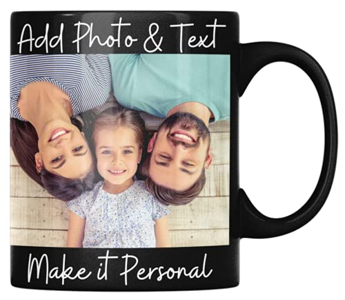 Personalized Coffee Mug 11oz 15oz Black Coffee Mugs Custom Mug Personalized Gifts for Men Women Ideal Customized Gift for Christmas Valentines Day Birthday or Any Other Occasion With Name Text Picture