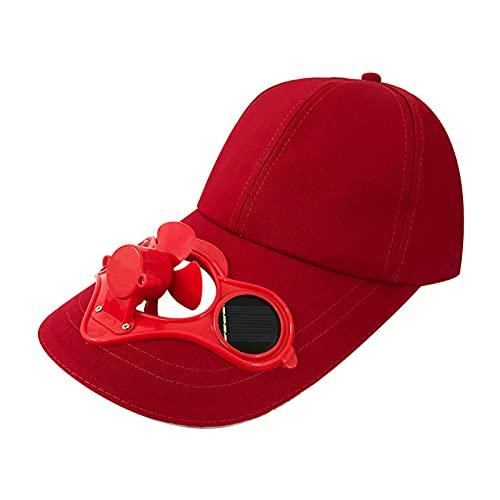 Domybest Cappello da Baseball Donna Cappello con Ventilatore Solare Cappello da Sole Donna Estivo Cappello con Visiera Berretto Cappello da Spiaggia Esterno Unisex in Cotone Cappello con Ventola