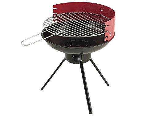 Home 8418000 Barbecue à Charbon Rond, Noir/Rouge
