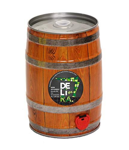 Birra Artigianale Cruda Italiana DELìRA IPA - Fusto 5 Litri - Prodotta da I.C.B. Italian Craft Brewery (1)