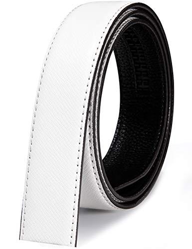 Barry.Wang Cinturones de diseñador para hombres sin níquel hebilla automática aleación cuero genuino correa formal ajustable