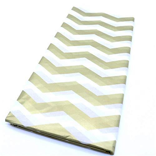 1 Unidades 50 * 66 Cm Papel de seda impreso Papel de regalo de Navidad Papel de regalo artesanal Banquete de boda Decoración para el hogar Suministros de álbum de recortes de origami, ola dorada
