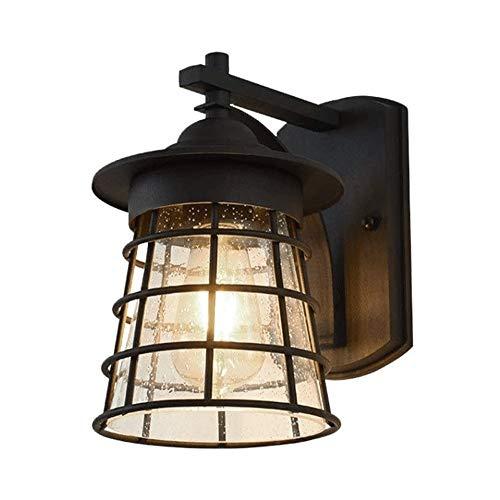 Big Shark Lantaarn voor in de open lucht, waterdicht aluminium, glas, wandlamp in Japanse stijl, eenvoudige antieke vintage villa, deur, hal, tuin, binnenplaats, decoratie, balkon, led-wandlamp