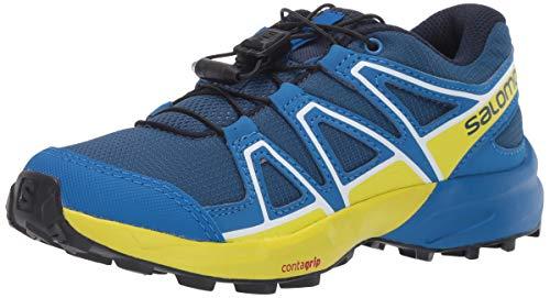 Salomon Speedcross J, Zapatillas de Trail Running, Azul/Amarillo (Poseidon/Sky Diver/Sulphur Spring), 35...