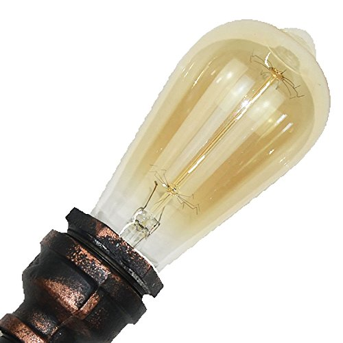 Applique murale Salon intérieur éclairage extérieur décoration rétro industrielle vent lampe Américain en fer forgé tuyau lampe murale, H 41 * 32 cm