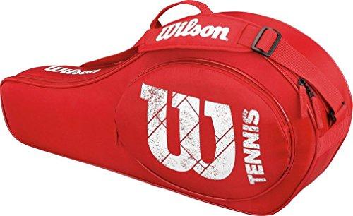 Wilson Schlägertasche Match Junior 3er Racketbag, rot, 68 x 10.2 x 31 cm, 22 Liter, WRZ821603