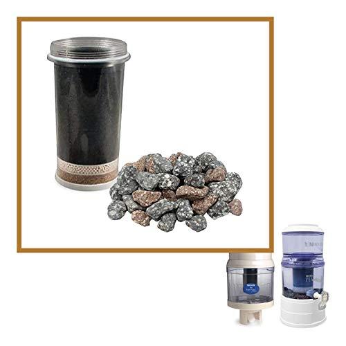 Filterkartusche (1361) und Mineralsteine (1386) – Wassersystem-Komponenten – fortschrittlicher Ersatz für Schwerkraft-Wasserfilter-Reinigungssystem (1360)