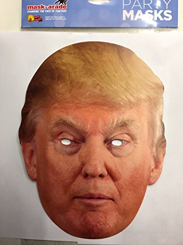 Mask-Arade Donald Trump Celebrity Politician Card Face Mask by