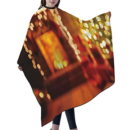"""SUPNON Waterproof Professional Salon Cape Hair Salon Cutting Cape Barber Hairdressing Cape - 55"""" x 66"""" - Interior Christmas. Magic Glowing Tree Fireplace Gifts In Dark, IS158639"""