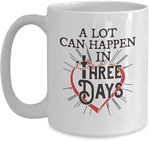 Christliches Ostergeschenk - viel kann in drei Tagen geschehen - weiße Kaffeetasse für Weihnachts-Erntedankfest-Freund-Geschenk-Geschenk