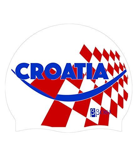 Hochwertige Silikon Kroatien Unisex Damen und Herren Badekappe–bbosi...