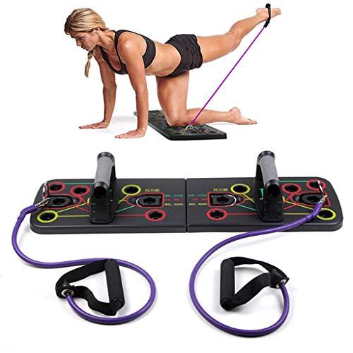 AIYLY Push-Up-Rack-Ständer-Board Mit Widerstand-Band-Gym, Männer Frauen Workout Push-Up Ständer Für Gym/Startseite Körpertrainingsgeräte