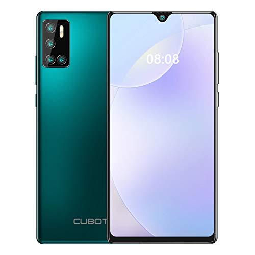CUBOT P40 Smartphone ohne vertrag, 6,2 Zoll Dot Drop Anzeige, 128GB Speicher (256GB erweiterbar) günstiges Android 10 Handy mit AI Quad Kamera, 4200mAh großer Akuu, Deutsch Version (Grün)
